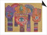 Protective Amulets, 1992 Posters by Laila Shawa