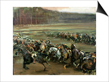 Charge of Flowerdew's Squadron, c.1918 Prints by Sir Alfred Munnings
