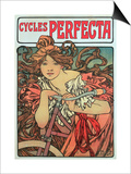 Poster Advertising 'Cycles Perfecta', 1902 Prints by Alphonse Mucha