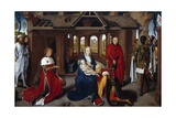 Triptych of the Adoration of the Magi, Central Panel by Hans Memling Giclee Print