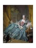 Portrait of Madame De Pompadour by Francois Boucher Giclee Print