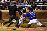 Sep 28, 2014: New York, NY - Houston Astros v New York Mets - Jose Altuve, Anthony Recker Photographic Print by Alex Goodlett