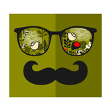 Retro Sunglasses with Reflection for Hipster. Posters by  panova