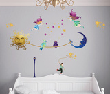 Sun Meeting The Moon Glow In The Dark Wall Decal