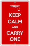 Keep Calm Carry One Tin Sign