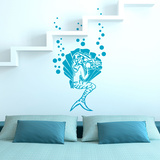 Pretty Mermaid Teal Wall Decal