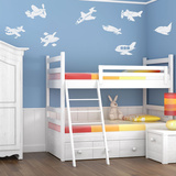 Fly Away Airplanes White Wall Decal