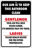 Gentlemen Aim Tin Sign