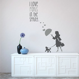 A Paris Spring Grey Wall Decal