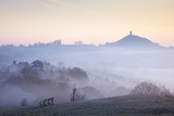 Glastonbury Tor from Wearyall Hill, Somerset, UK Photographic Print by Nick Cable