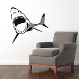Two-Toned Shark Black Wall Decal