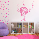 Pretty Mermaid Pink Wall Decal
