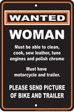 Wanted Woman Tin Sign