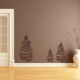Cedar Tree Trio Brown Wall Decal