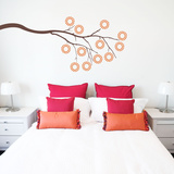Dottie Branch Brown Wall Decal