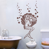 Pretty Mermaid Brown Wall Decal