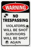 No Trespass W/Bullet Plakietka emaliowana