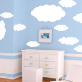 Happy Little Clouds Wall Decal