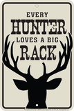 Hunters Love Racks Placa de lata