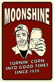 Moonshine Tin Sign