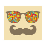 Retro Sunglasses with Reflection for Hipster. Art by  panova