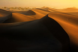 Morning Glow on Dunes Photographic Print by David Toussaint