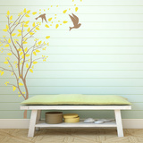 A Windy Spring Brown Wall Decal