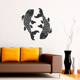 Koi Fish Black Wall Decal