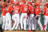 Miami Marlins v Washington Nationals Photographic Print by Mitchell Layton