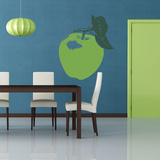 An Apple A Day Lime Green Wall Decal