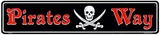 Pirate Way Blechschild