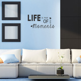 Life Is Made Of Little Moments Black Wall Decal