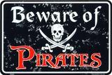 Beware Of Pirates Plakietka emaliowana