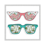 Vintage Sunglasses with Cute Floral Print for Him and Her. Premium Giclee Print by cherry blossom girl
