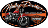 Harley Davidson Fat Boy Oval Sign Tin Sign