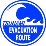 Tsunami Blechschild