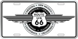 Rt. 66 Round Wings Tin Sign