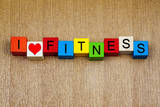 Fitness - I Love Fitness - for Exercise, Sports and Keeping Fit Prints by  EdSamuel
