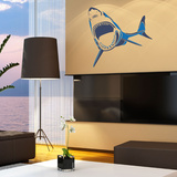 Two-Toned Shark Blue Wall Decal