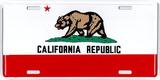 Bandiera dello stato della California Targa di latta