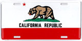 California State Flag Tin Sign