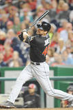 Miami Marlins v Washington Nationals - Game Two Photographic Print by Mitchell Layton