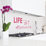 Life Is Made Of Little Moments Pink Wall Decal