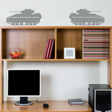 Bradley Fighter Tanks Grey Wall Decal