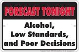 Tonights Forecast Blikskilt