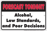 Tonights Forecast Tin Sign