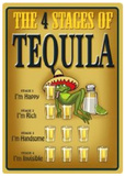 4 Stages Of Tequila Tin Sign