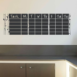 Daily Tasks Chalkboard Decal Wall Decal