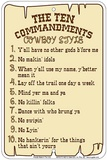 Ten Commandments Tin Sign