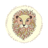 Cute Little Lion Illustration for Children. Premium Giclee Print by cherry blossom girl